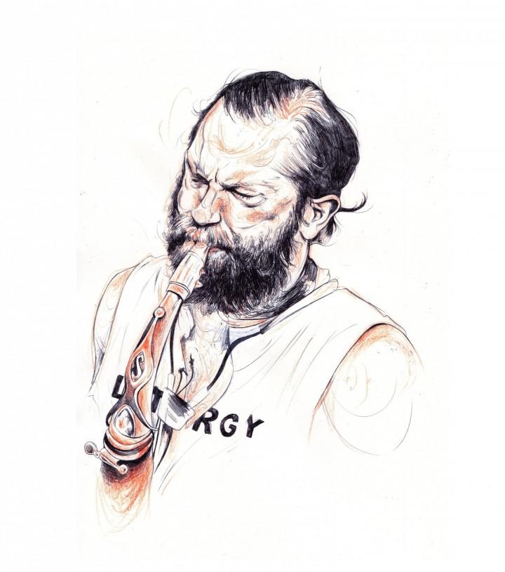 Illustration by Menah, based on a portrait by Leslie Keller